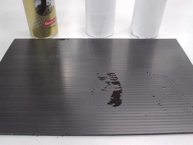 2.2分ほど経過した状態。MOTUL Parts cleanの残留痕は見受けられない。